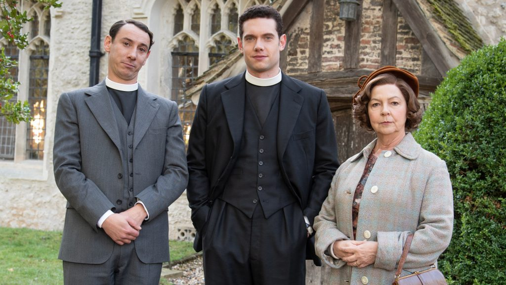 Al Weaver, Tom Brittney and Tessa Peake-Jones in Grantchester on MASTERPIECE on PBS