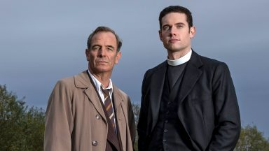Robson Green and Tom Brittney in Grantchester on MASTERPIECE on PBS