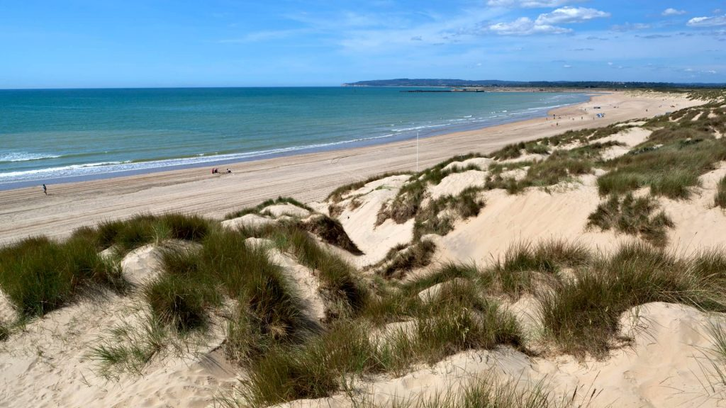 Camber Sands is East Sussex's only dune system and is known for its long, unspoiled stretch of dunes, and its (uncharacteristic for Sussex) wide sandy beach.