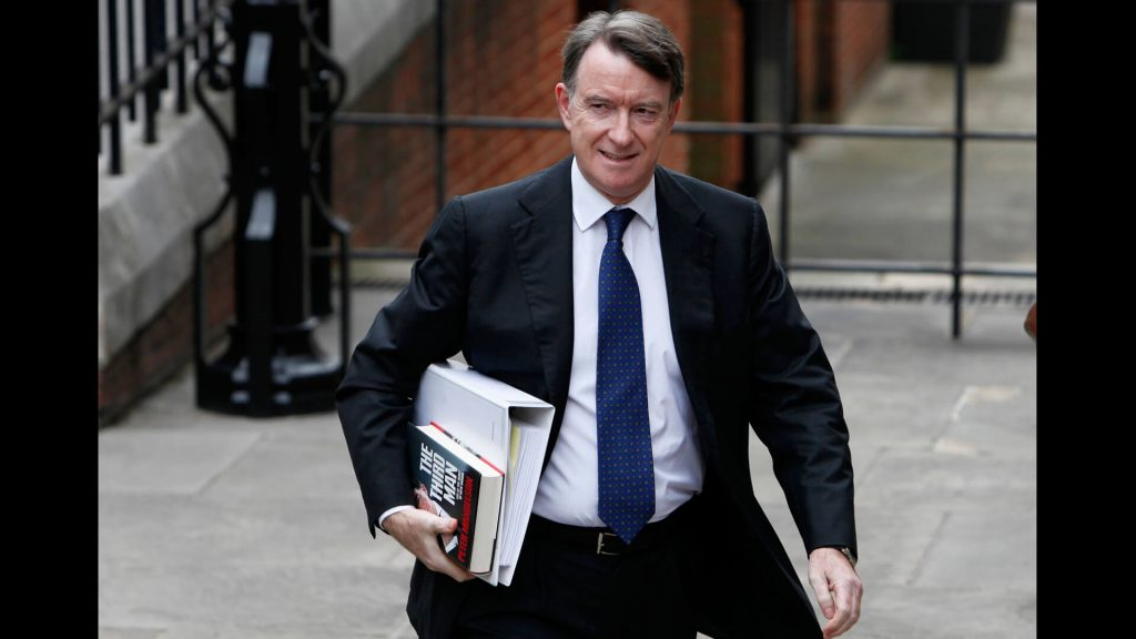Peter Mandelson British Labour Party politician, 2012