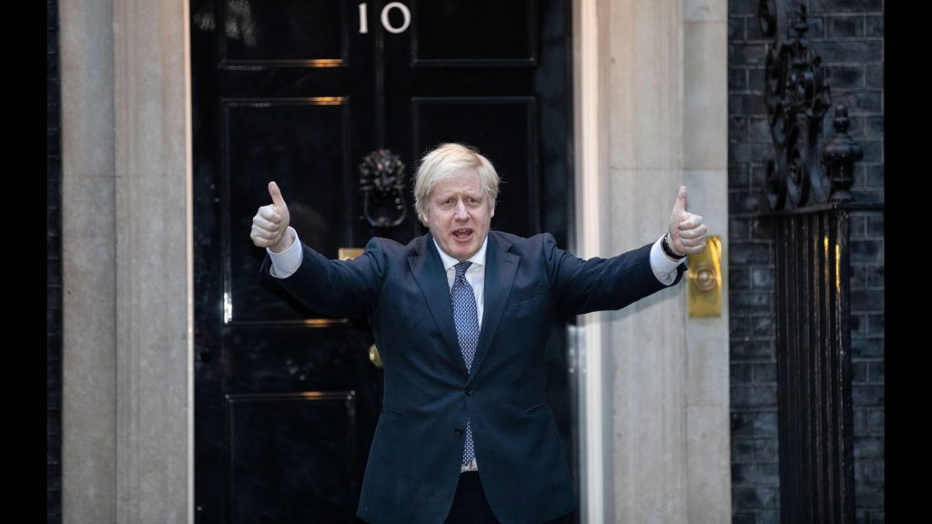 Prime Minister Boris Johnson at No. 10 Downing Street