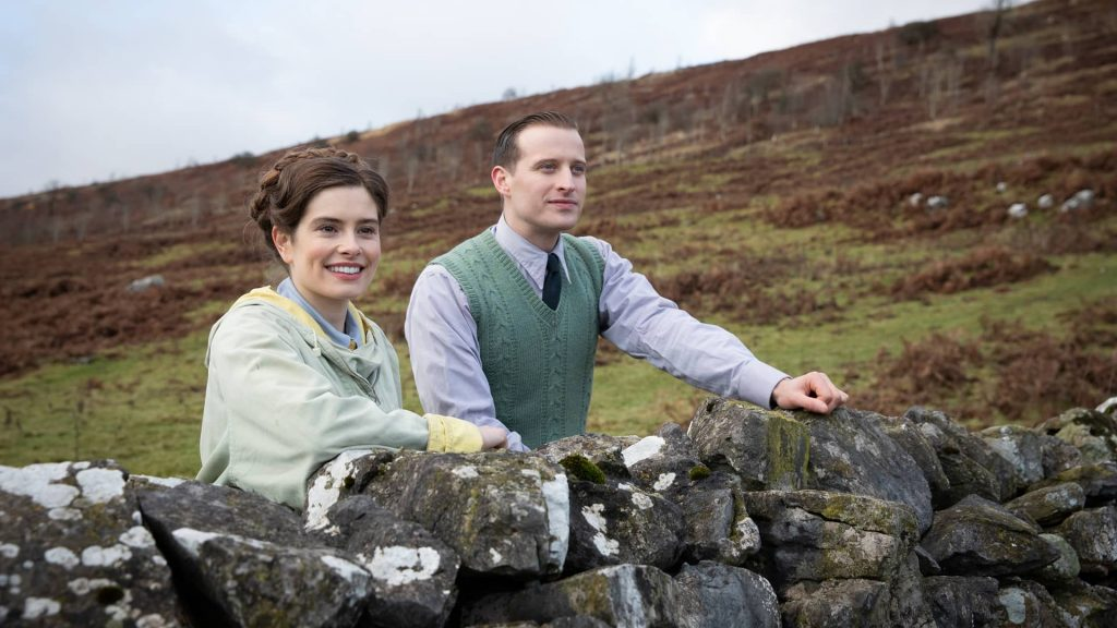 Rachel Shenton and Nicholas Ralph in All Creatures Great and Small on MASTERPIECE