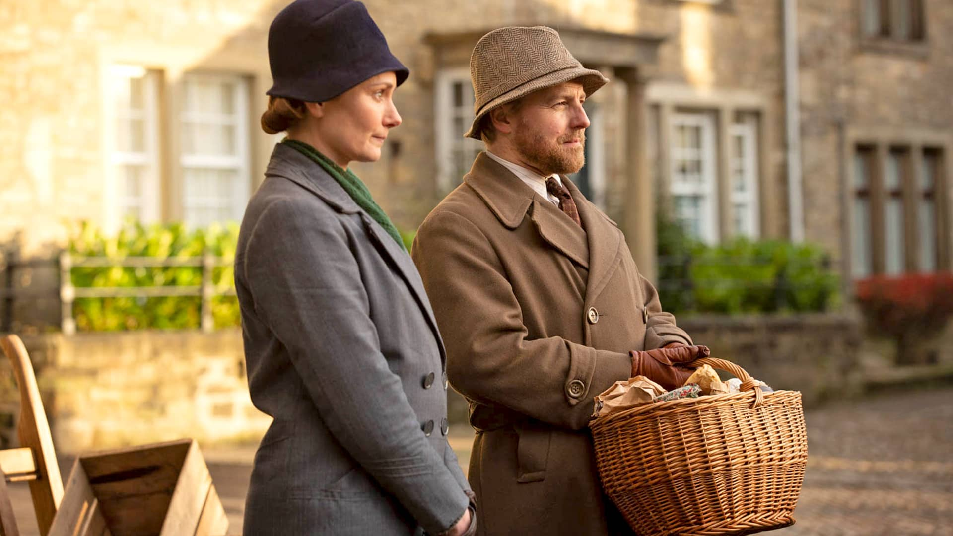 Anna Madeley and Samuel West in All Creatures Great and Small on Masterpiece on PBS