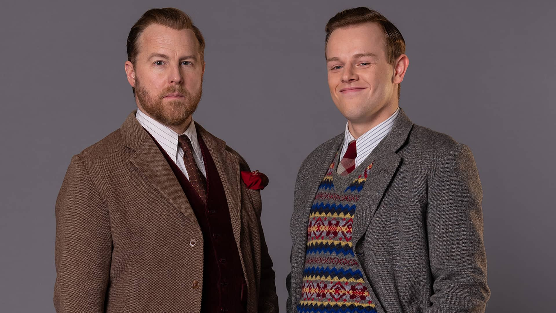 Samuel West and Callum Woodhouse in All Creatures Great and Small as seen on MASTERPIECE on PBS