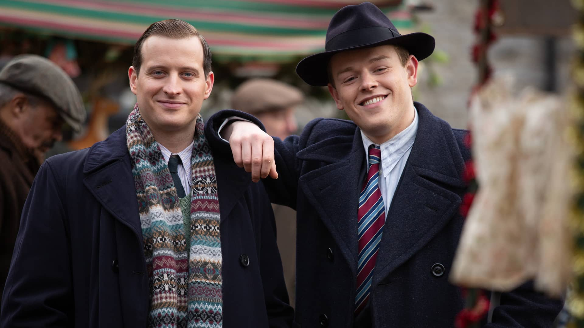 Nicholas Ralph and Callum Woodhouse in All Creatures Great and Small as seen on MASTERPIECE on PBS