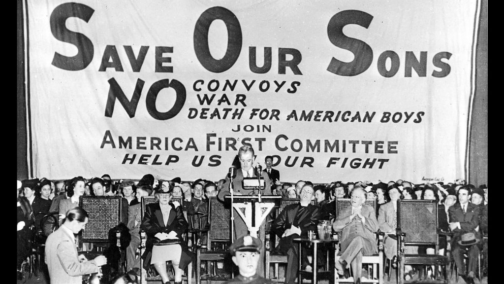 Event of America First Committee against war 1941