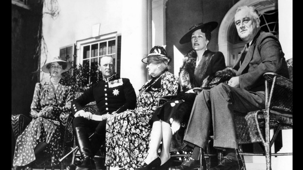 Franklin D. Roosevelt entertained Crown Prince Olav and Crown Princess Martha of Norway