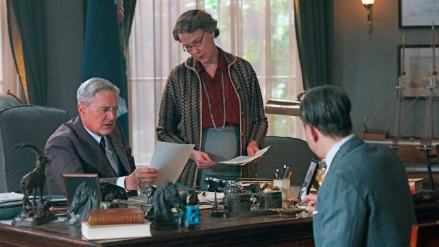 Kyle MacLachlan and Harriet Sansom Harris as Franklin and Eleanor Roosevelt