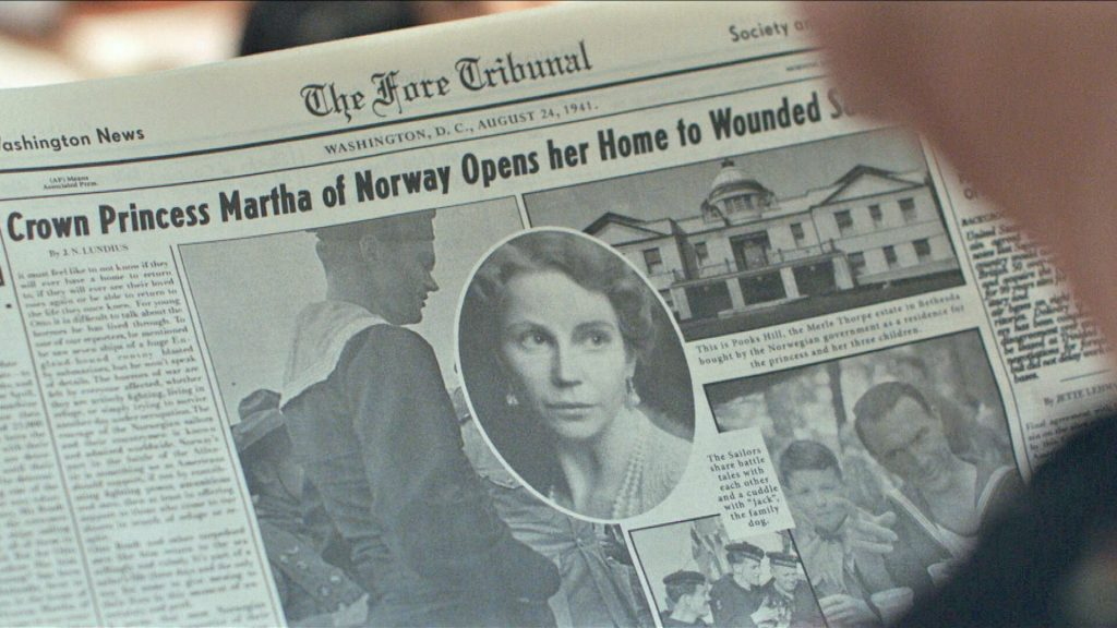 Mocked up newspaper headline about Norway's Princess Martha for the mini-series, Atlantic Crossing.