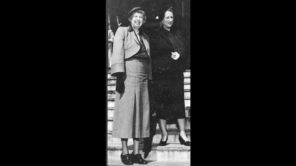 Eleanor Roosevelt with Norway's Crown Princess Martha in 1940s.