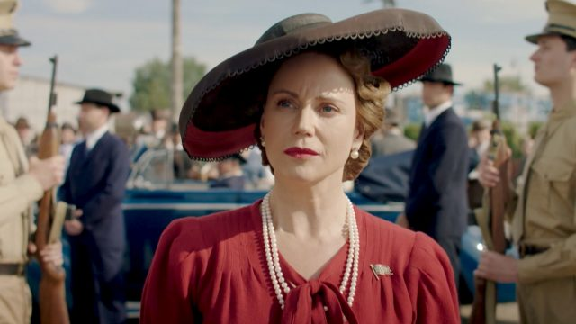Sofia Helin as Crown Princess Martha in Atlantic Crossing