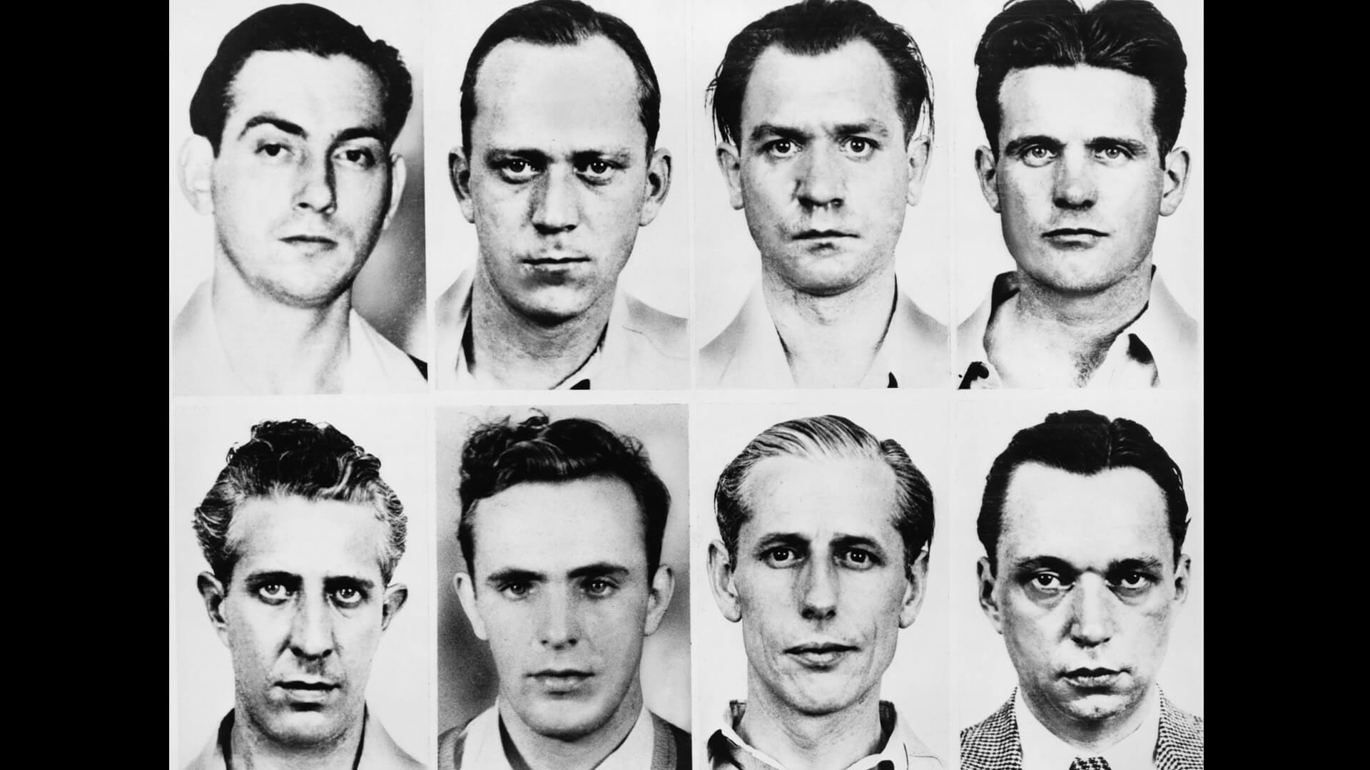 FBI mug shots of eight German saboteurs, June 1942.