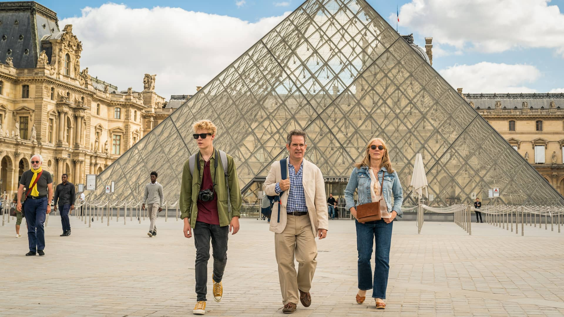 Tom Taylor, Tom Hollander and Saskia Reeves in Us on MASTERPIECE on PBS
