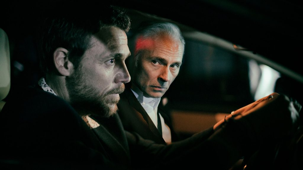 Actors Jamie Sieves and Mark Bonnar in a scene from Guilt.