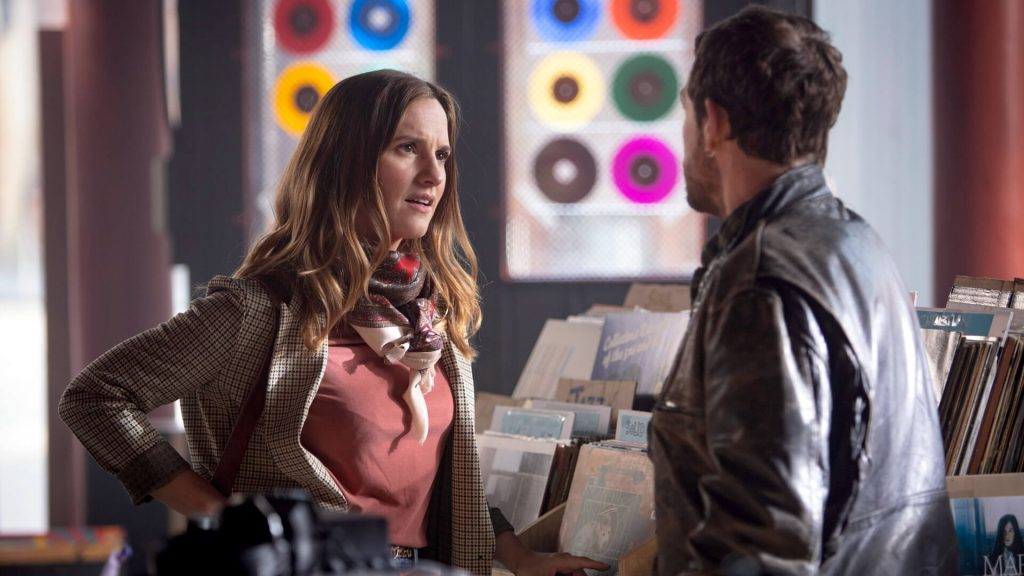 Actors Ruth Bradley and Jamie Sives in a scene from Guilt.
