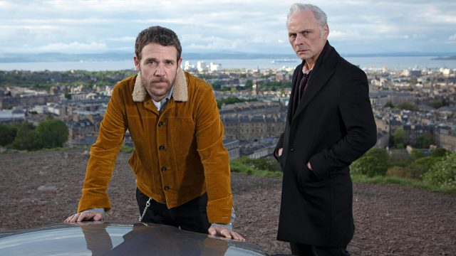 Actors Jamie Sives and Mark Bonnar in a scene from Guilt.