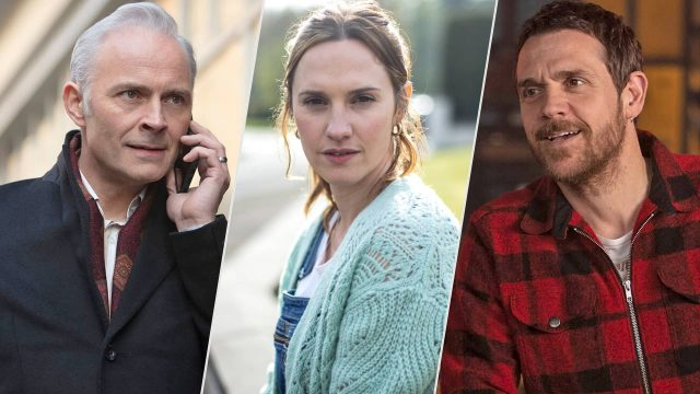 Mark Bonnar, Ruth Bradley and Jamie Sives in Guilt