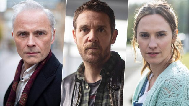 Mark Bonnar, Jamie Sives and Ruth Bradley in Guilt