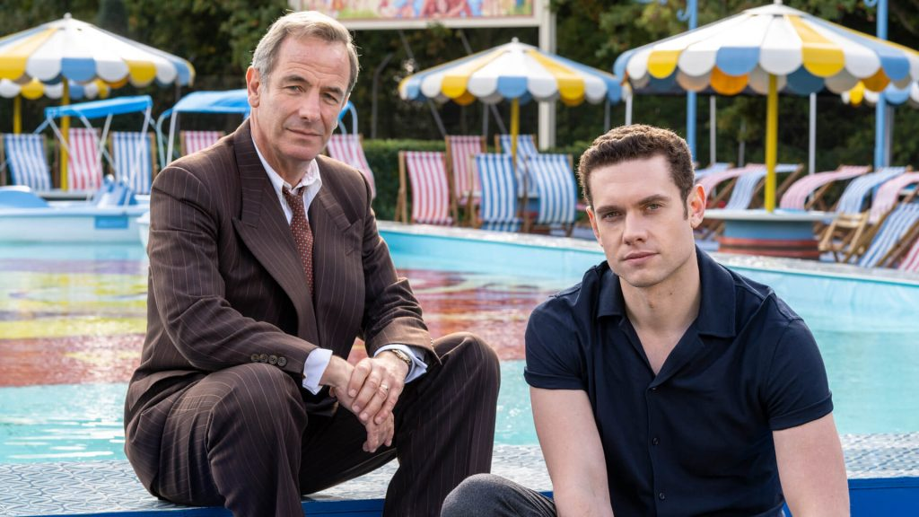 Actors Robson Green and Tom Brittney in the TV series, Grantchester.