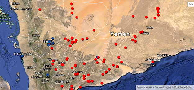 Number Of US Air Strikes In Iraq Already Exceeds Those In Yemen - Us drone strikes map