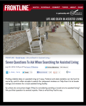 Seven Questions To Ask When Searching for Assisted Living