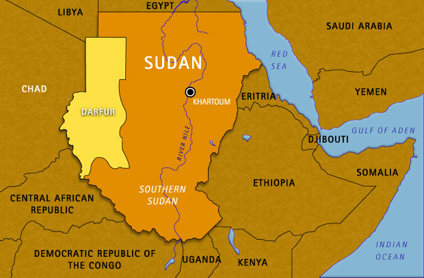 Map Sudan Chad And Surrounding Areas On Our Watch FRONTLINE - Chad map