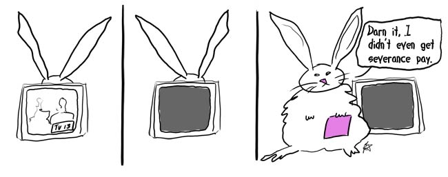 Cartoon on the analog to digital tv transition
