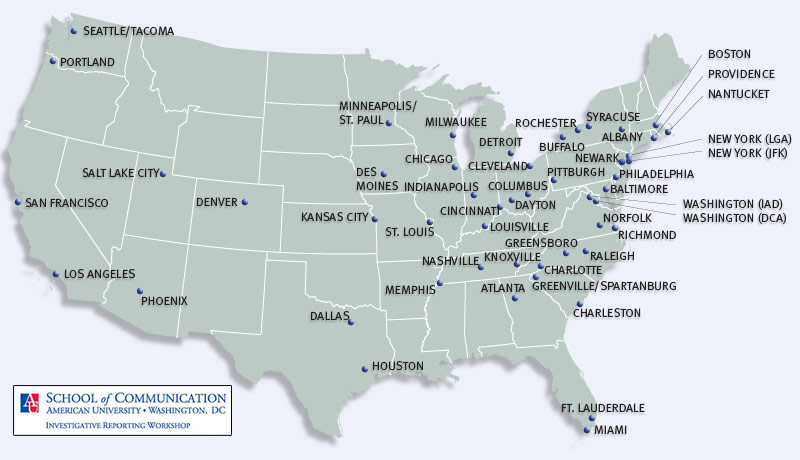 Map Of Us Airports Top U.s. Airports For Regional Flights | Flying Cheap | FRONTLINE