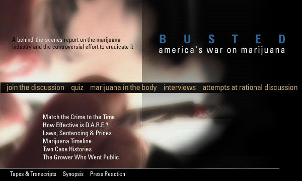 Frontline:  Busted - America's War on Marijuana icon