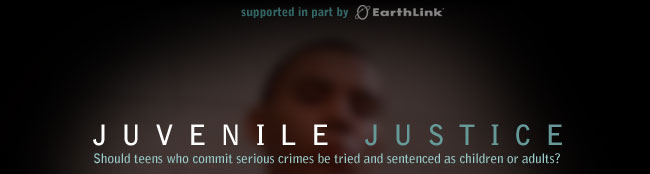 """Juvenile Justice:  Should Teens Who Commit Serious Crimes Be Tried and Sentenced as Children or Adults?"" icon"
