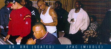 Photo Of 2pac Dre Others In A Studio Setting