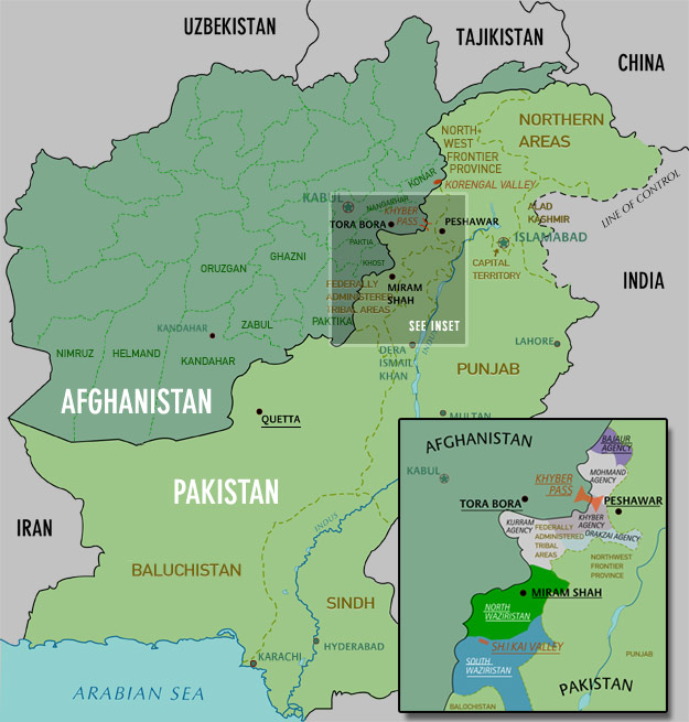 Korengal Valley Map Tribal Areas   A Critical Part Of The World   Pakistan's Tribal