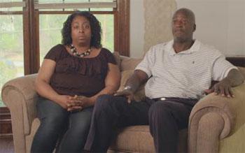 Melonie Ware, left, and her husband Reginald