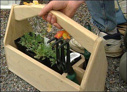 Wooden Garden Caddy