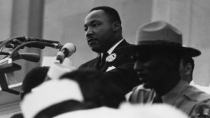 Martin Luther King Jr. addressing the audience at the March on Washington (Wikimedia Commons)