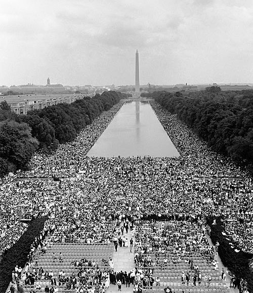 Lincoln Memorial, Aug. 28, 1963 (Public Domain)
