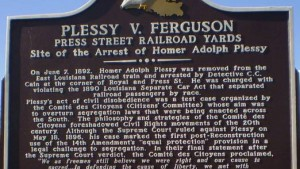 Plessy v. Ferguson historic marker