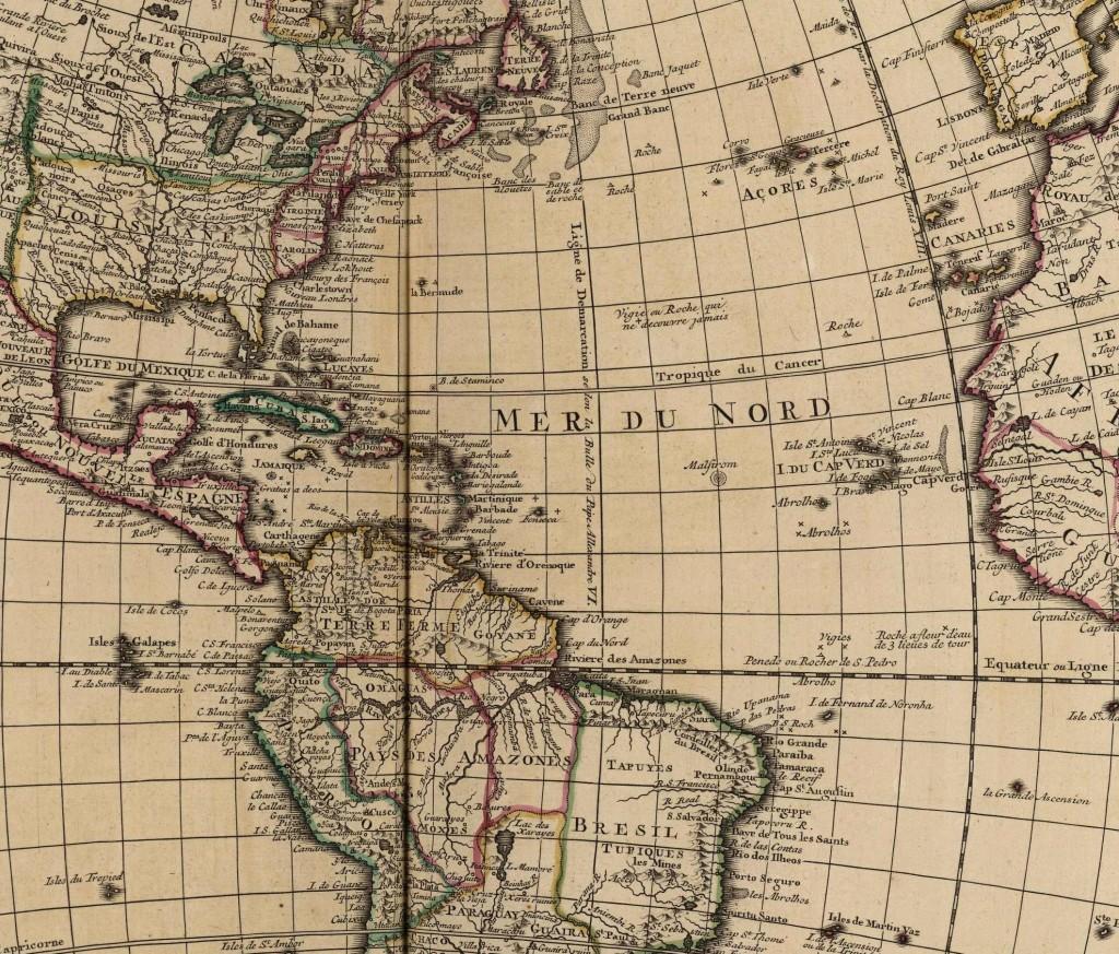 The Americas circa 1750