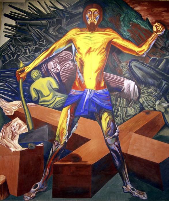 Jos clemente orozco paintings by orozco gallery for El hombre de fuego mural de jose clemente orozco