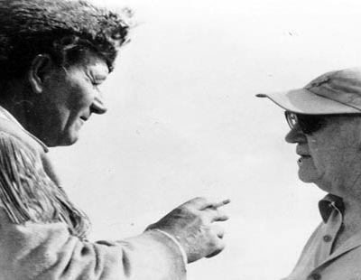 John Wayne and John Ford