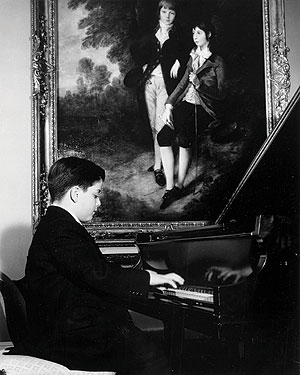 A young James Levine playing piano. Photo courtesy James Levine.