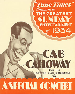 Poster for Cab Calloway and his Cotton Club Orchestra
