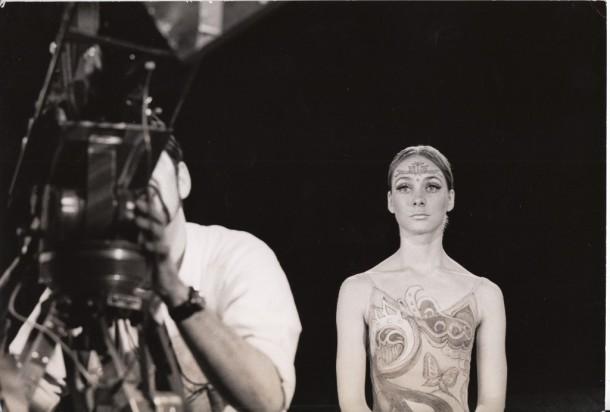 Trinette Singleton in makeup and costume for Astarte filming