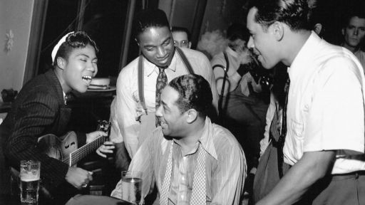 Sister Rosetta Tharpe with-Duke-Ellington Cab Calloway-in-1939