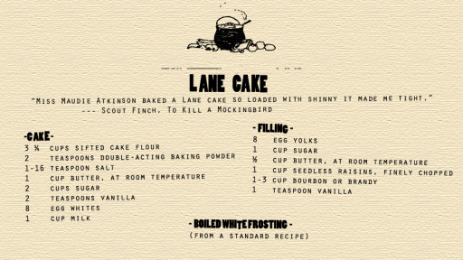The Cake That Made Maycomb Famous: The Lane Cake
