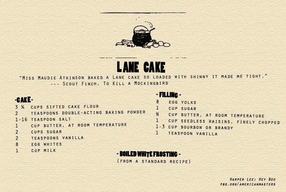 Harper Lee The Cake That Made Maycomb Famous The Lane Cake