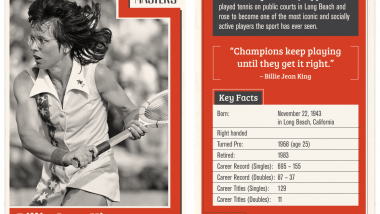 Infographics: Billie Jean King Trading Cards