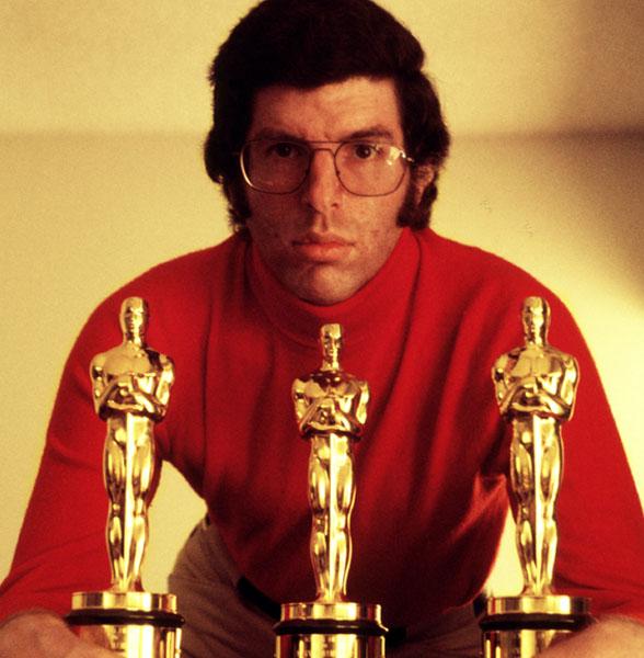 Marvin Hamlisch with his three Oscars, circa 1974.