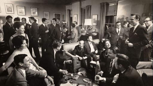 George Plimpton Party Scene