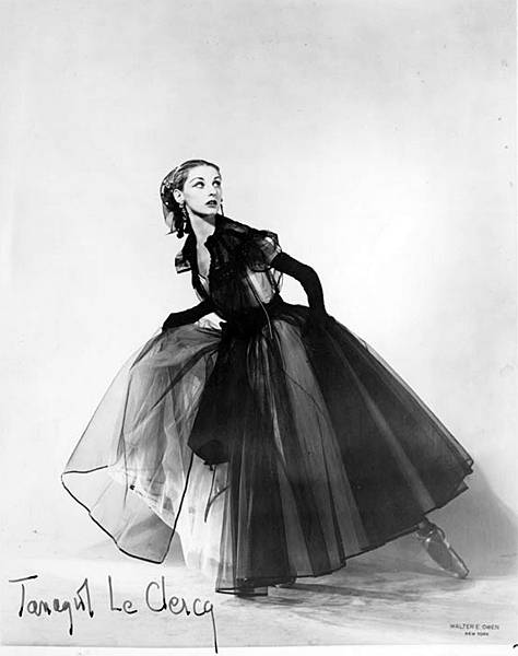 Tanaquil Le Clercq in La Valse. Photo taken in 1951 by Walter E. Owen (1896-1963).